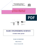 QUS 103 -Basic Engineering Science (Practicals)