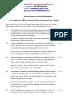Assignment QP MBA International Financial Management MF0015 Summer2013