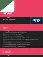 War - Pirandello