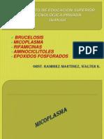 9ss Infecciones Brucelosis Micoplasma Rifamicinas. Aminociclitoles.epoxidos Fosforados1