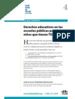 Derechos educativos en las escuelas públicas para los niños que tienen TDAH