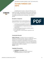 IMPERMEABILIZANTE PARA PAREDES CON HUMEDAD ASCENDENTE - FADEPA - Fábrica Argentina de Pintura