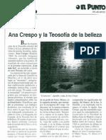 Ana Crespo y La Teosofia de La Belleza