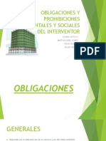 Obligaciones y Prohibiciones Ambientales y Sociales Del Interventor