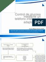 Control de glucosa mediante un teléfono inteligente adaptado