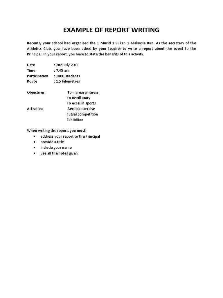 sample essay report 1murid 1 sukan 1 malaysia