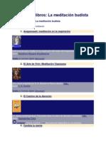 Catálogo de libros de Meditacion Budista