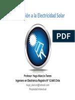Introducción a la energía solar fotovoltaica prof Hugo Alarcón scribd