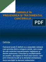 Vitaminele in Tratamentul Cancerului