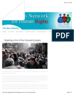 Targeting a Line of Four Thousand People | SNHR