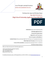 2014 ATLF HS Senior Scholarship Application