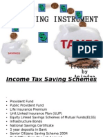 Income Tax Saving Schemes
