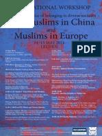 Poster Muslim China Europe