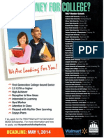 TMCF-Walmart Scholarship Flyer