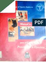 Manual de Consulta- Prescripcion Del Ejercicio American Collee of Sports Medicine- CAPITULOS 3, 4, 5 7, 8, 9,10 Y 11