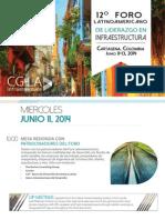 Agenda Congreso Infraestructura