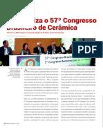 57º Congresso  Brasileiro de Cerâmica - Anicer e a ABC lançam a terceira edição do Prêmio Jovem Ceramista