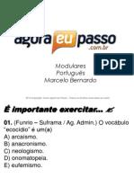 AEP2011 - Portugua¦Çs para Concursos (G&T) - AULA 18 - Morfologia 1 (Exerc-¦cios Gerais)