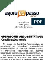 AEP2011 - Portuguàs para Concursos (G&T) - AULA 22 - Morfologia 2 (Operadores Argumentativos)