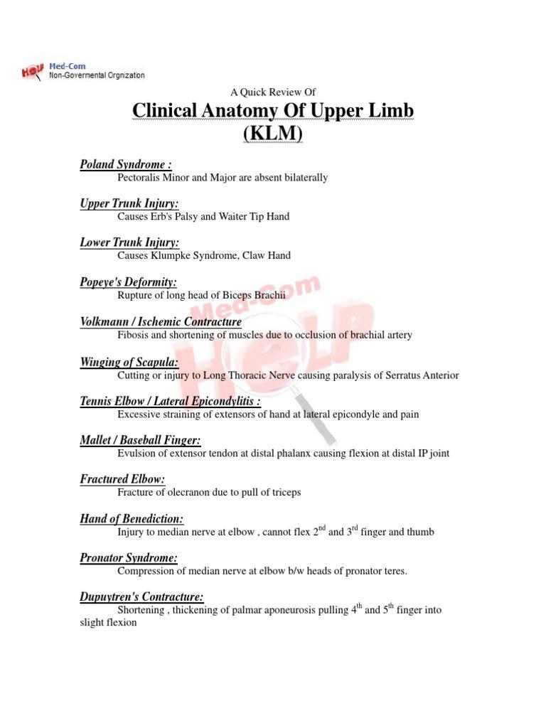 Med-Com Clinical UpperLimb   Elbow   Finger