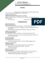 resume of nicole rinehart november 2012