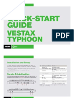 Vestax Typhoon Quickstart Guide for Serato DJ
