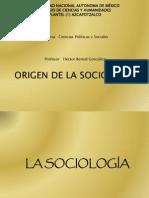 Orígen de la SOCIOLOGÍA