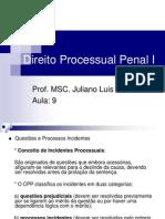 Direito Processual Penal I Aula 09