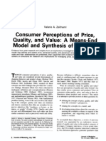 Consumer Perceptions of Price, Quality, and Value- A Means-End Model and Snthesis of Evidence