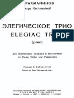 Trio élégiaque No.1 in G minor (Rachmaninoff, Sergei) - IMSLP03534-Piano Whole Score