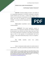 Artigo Luiz Henrique - Improbidade Administrativa
