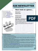 6th grade newsletter april 4 2014