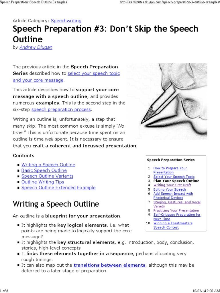 speech outline examples data analysis speech