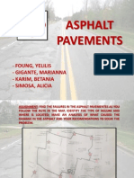 Assignment of Asphalt Pavements. Yelilis Foung, Marianna Gigante, Betania Karim, Alicia Simosa.