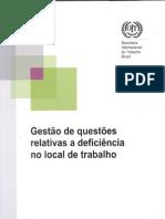 Gestão de Questões Relativas a Deficiência no Local de Trabalho