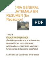 Historia General de Guatemala en Resumen