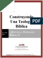 1. Qué es la Teología Bíblica