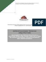 Especificaciones Tecnicas de Arquitectura de Camilo-FI