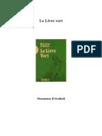 Kadhafi Mouammar - Le Livre Vert.pdf