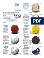 Sports Ball cake pan
