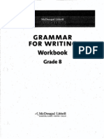 Grammar for Writing Workbook Grade 8