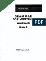 Grammar for Writing Workbook Grade 8