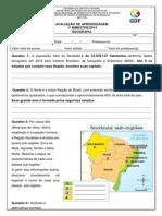 avaliação Geografia 1º bim 2014 5º ano