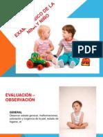 EXAMEN FÍSICO DE LA NIÑA Y NIÑOlisto