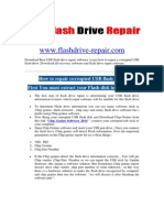 USB Flash drive repair software