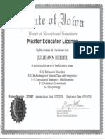 iowa master teacher