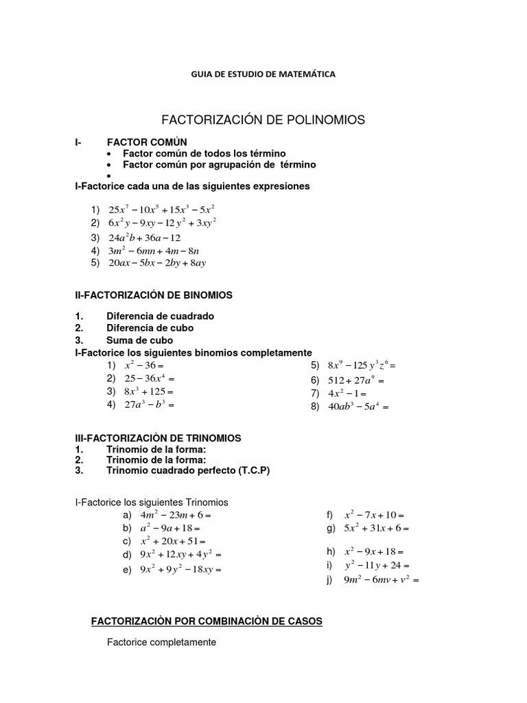 Perfecto Suma Factoring Y Diferencia De Cubos Hoja De Trabajo ...