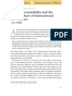Public Accountability and the Public Sphere of International Governance