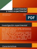 Investigación experimental y cuasi-experimental