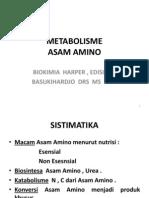 Metabolisme Asam Amino & Protein , BASUKIHARDJO EDIT ( H 24 )